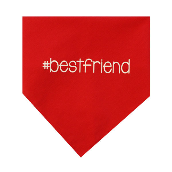 Red Best Friend Dog Bandana