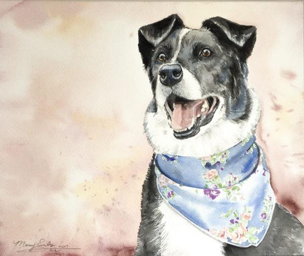 exclusive watercolor pet portraits